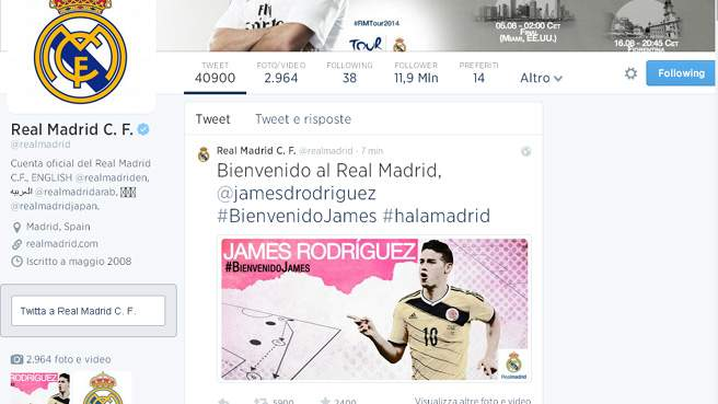 Real, James Rodriguez � ufficiale