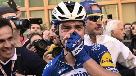 Alaphilippe in lacrime: