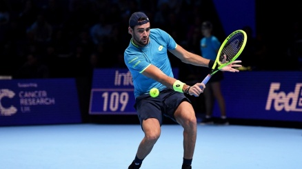 Atp Finals: Berrettini si inchina anche a Federer
