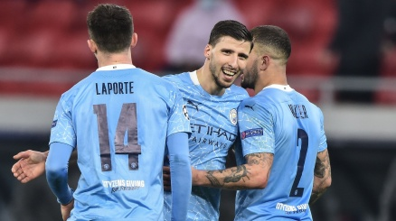 Champions, City con un piede nei quarti: brilla anche Cancelo